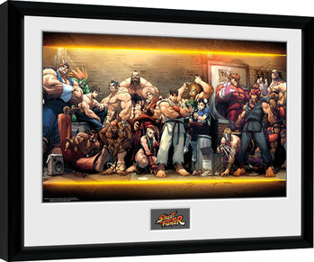 Street Fighter - Characters Kehystetty juliste