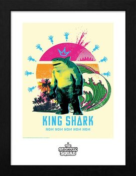 Kehystetty juliste Suicide Squad - King Shark