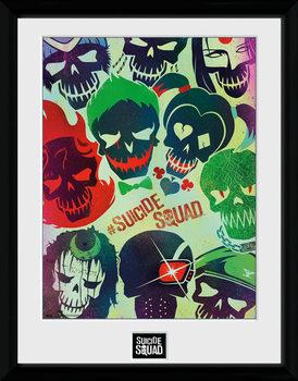 Suicide Squad - Skulls Kehystetty juliste
