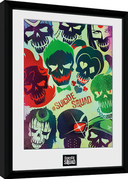 Suicide Squad - Skulls Kehystetty juliste