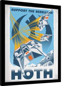 Tähtien sota - Hoth Kehystetty juliste
