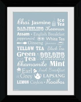 Tea - Types Kehystetty juliste