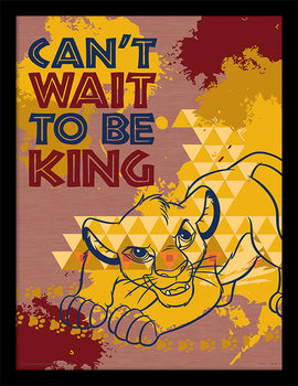 The Lion King - Can't Wait to be King Kehystetty juliste