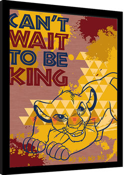 Kehystetty juliste The Lion King - Can't Wait to be King