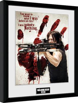 The Walking Dead - Daryl Bloody Hand Kehystetty juliste