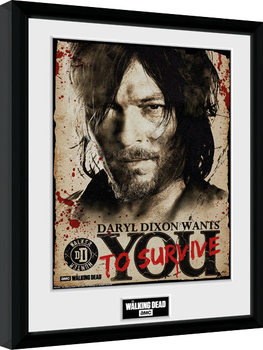 The Walking Dead - Daryl Needs You Kehystetty juliste
