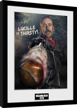 The Walking Dead - Negan Thirsty Kehystetty juliste
