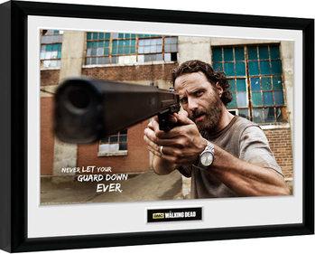 The Walking Dead - Rick Gun Kehystetty juliste