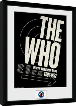 The Who - Tour 82 Kehystetty juliste