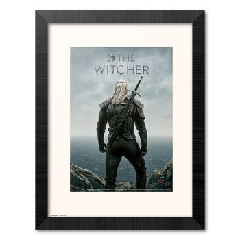 Kehystetty juliste The Witcher - Geralt Backwards