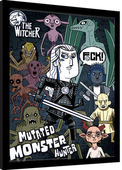 Kehystetty juliste The Witcher - Mutated Monster Hunter