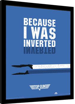 Kehystetty juliste Top Gun - Inverted