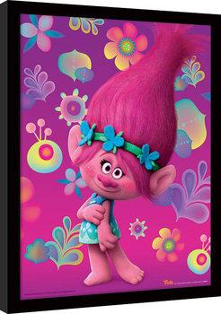 Trolls - Poppy kehystetty lasitettu juliste