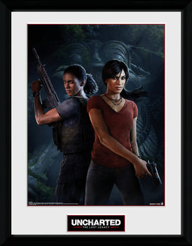 Uncharted: The Lost Legacy - Cover Kehystetty juliste