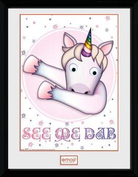 Unicorn - Emoji Kehystetty juliste