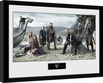 Kehystetty juliste Vikingos - Beach