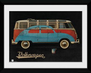 VW Camper - Paint Advert Kehystetty juliste