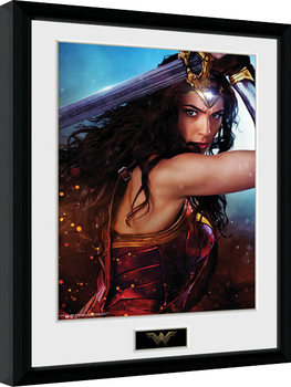 Kehystetty juliste Wonder Woman - Defend