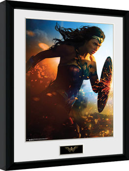Wonder Woman - Run Kehystetty juliste