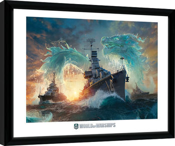 World Of Warships - Dragons Kehystetty juliste