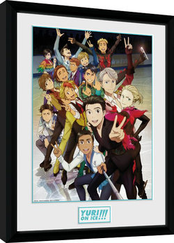 Yuri On Ice - Characters Kehystetty juliste