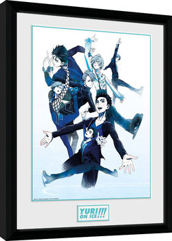 Yuri On Ice - Characters Skate Kehystetty juliste