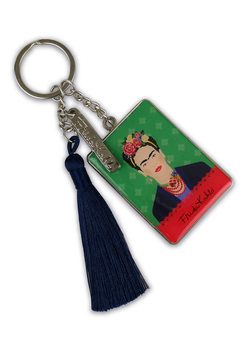 Frida Kahlo - Green Vogue Keyring