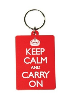 KEEP CALM & CARRY ON Keyring