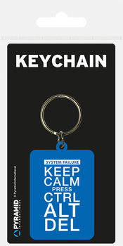 Keep Calm Press Ctrl ALt De Keyring