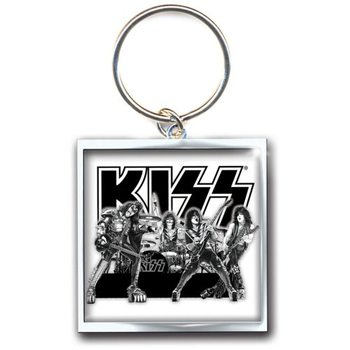 Kiss - Graphite Band Keyring