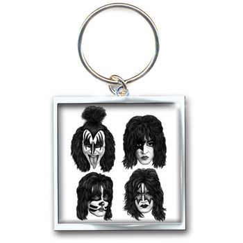 Kiss - Graphite Faces Keyring