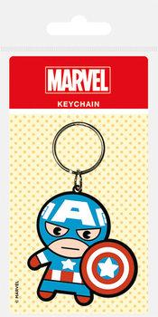 Marvel Kawaii - Captain America Keyring