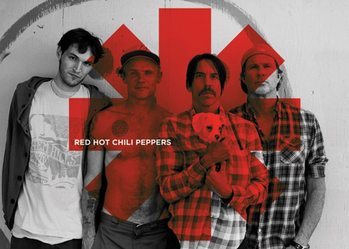 Keychain Red Hot Chili Peppers - Red Asterix