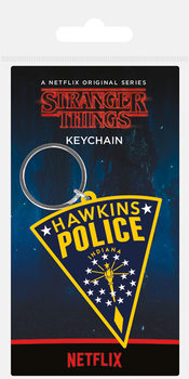 Stranger Things - Hawkins Police Patch Keyring