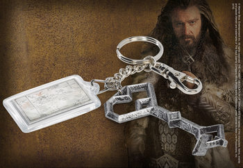 The Hobbit - Thorin's Key + Map Of Middle Earth Keyring