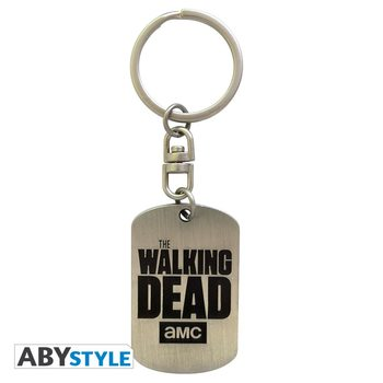 The Walking Dead - Dog tag logo Keyring