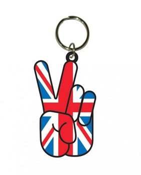 Union Jack Peace Keyring