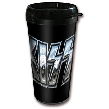 Travel Mug Kiss - Chrome Logo Plastic