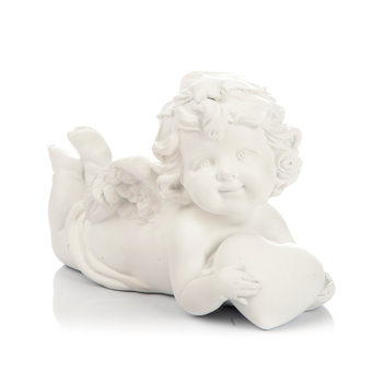 Angel Lying on Stomach, 9 cm Kodinsisustus