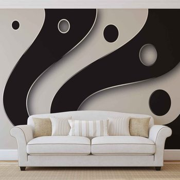 Kuvatapetti, Tapettijuliste Abstract Modern Pattern Black White