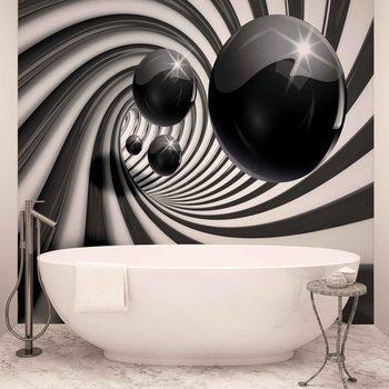 Kuvatapetti, TapettijulisteAbstract Swirl Modern Spheres