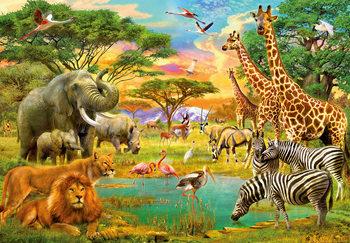 Afrikan eläimiä Kuvatapetti, Tapettijuliste