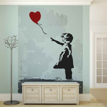 Banksy Street Art Balloon Heart Graffiti Valokuvatapetti