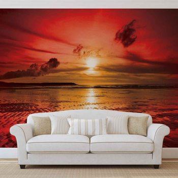 Beach Sunset Valokuvatapetti