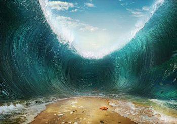 Beach Waves Sea Valokuvatapetti