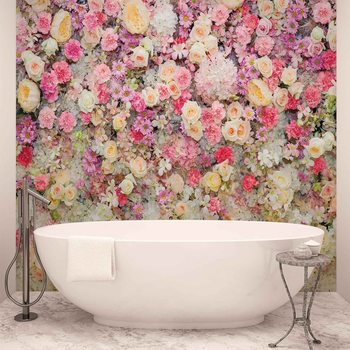 Beautiful Flowers Pastel Colours Valokuvatapetti
