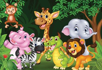 Cartoon Animals Valokuvatapetti