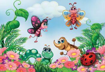 Cartoon Bugs Valokuvatapetti