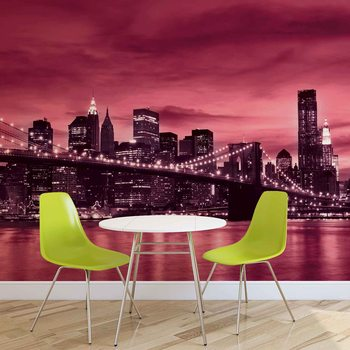 City Brooklyn Bridge New York City Valokuvatapetti