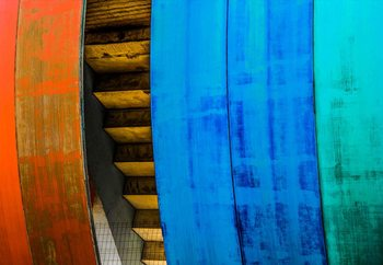 Colourful Wood Valokuvatapetti